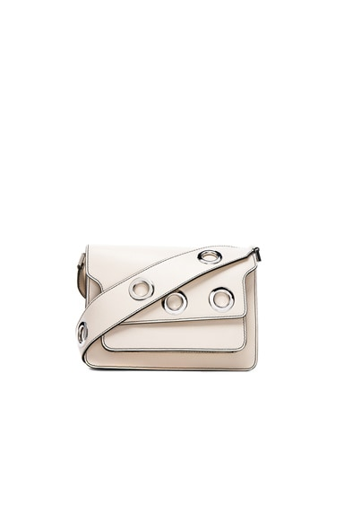 Marni Satellite Trunk Shoulder Bag in Natural White