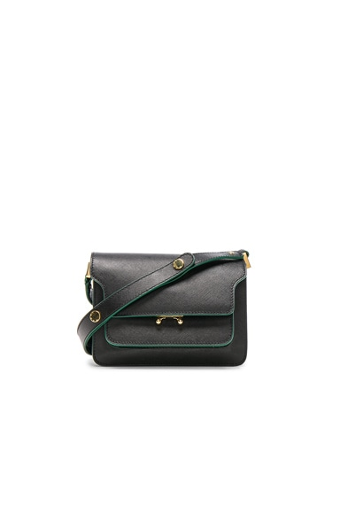 Marni Mini Trunk Shoulder Bag in Black