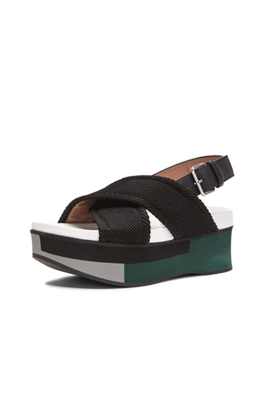 Leather Sandal Wedges