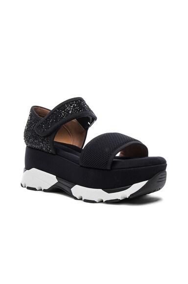 Platform Glitter Sandals