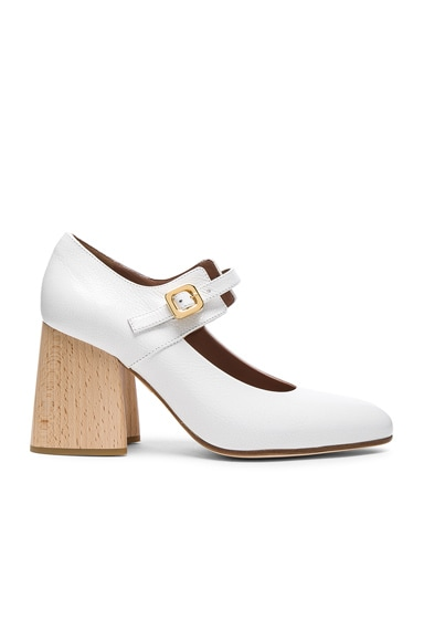 Marni Mary Jane Heels in Natural White