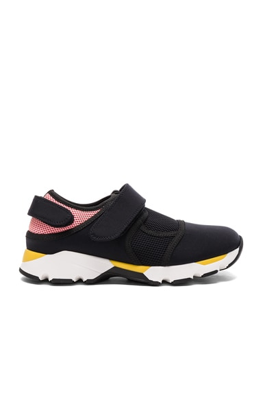 Marni Neoprene Sneakers in Black & Rose