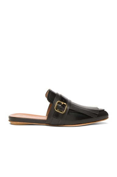 Marni Leather Mules in Black