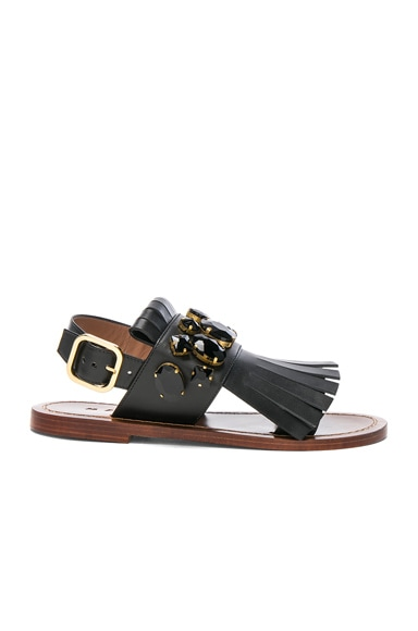 Jewel Leather Sandals