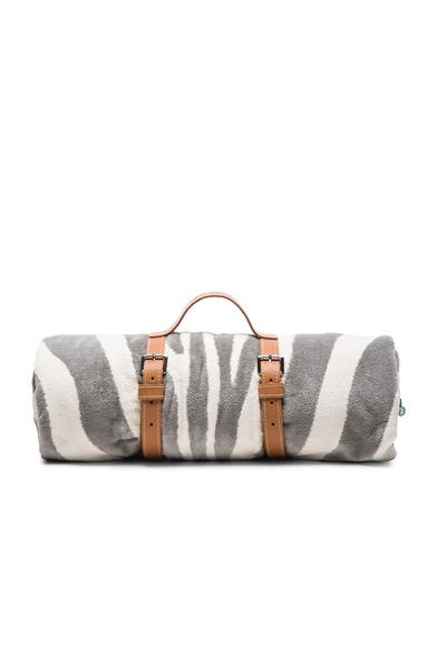 FWRD Exclusive Zebra Hide Crochet Towel