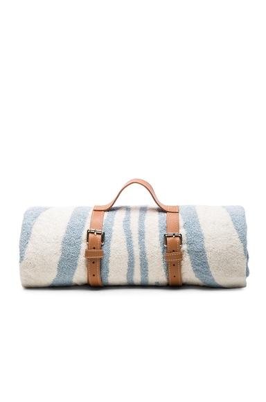 FWRD Exclusive Zebra Hide Tassel Towel