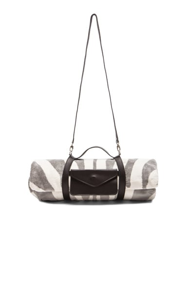 Zebra Hide Beach Towel with Crossbody Strap
