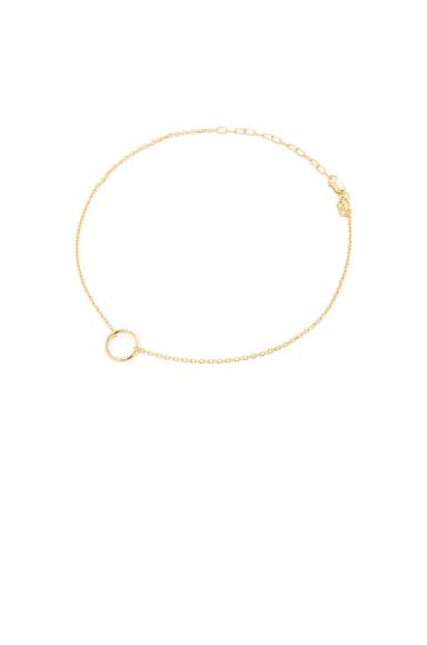 Maria Black 14 Karat Mono Ankle Bracelet in Gold
