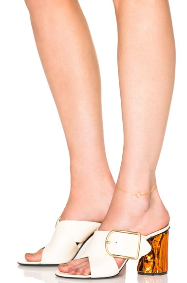 14 Karat Mono Ankle Bracelet