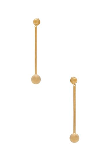 Maria Black 14 Karat Orbit Earrings in Gold
