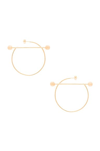 Maria Black 14 Karat Solar Earrings in Gold