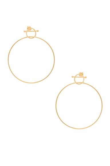 Maria Black 14 Karat Swing Earring in Gold