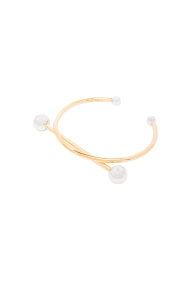 Maria Black 14 Karat Solar Bracelet in Gold & Silver