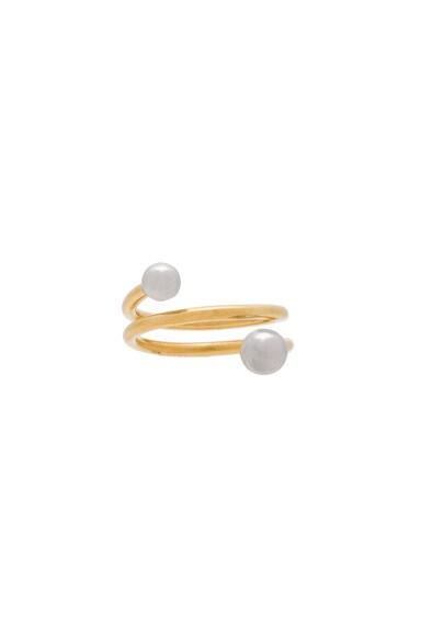 Maria Black 14 Karat Body Spring Ring in Gold & Silver