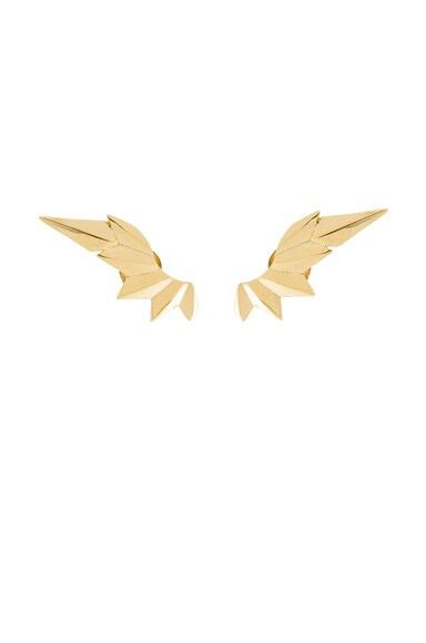 Maria Black 14 Karat Wing Earrings in Gold
