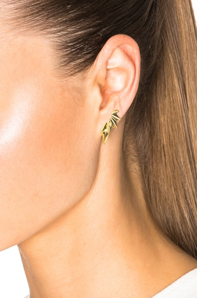 14 Karat Wing Earrings