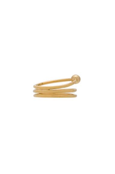 14 Karat Helix Trapez Ring