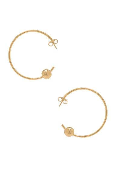 Maria Black Orion Maxi Hoop Earrings in Gold