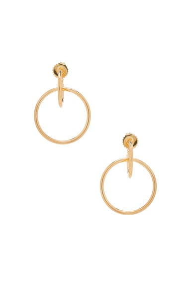 Maria Black Norma Medi Hoop Earrings in Gold