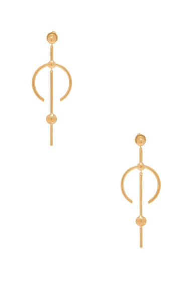 Maria Black Hydra Medi Earrings in Gold