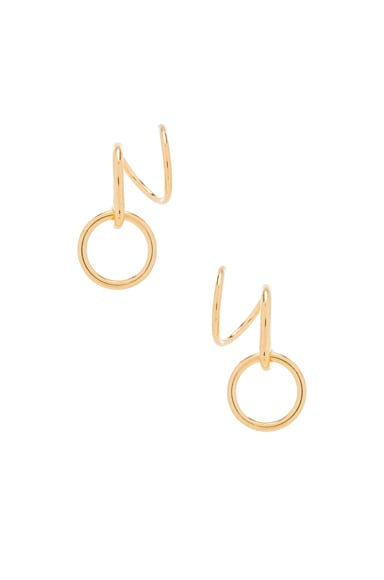 Maria Black Saga Twirl Earrings in Gold