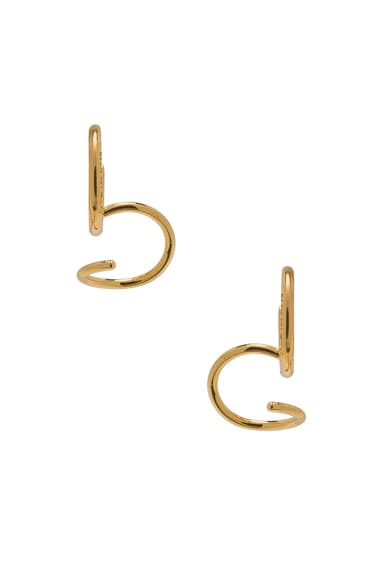 Maria Black Uma Twirl Earrings in Gold