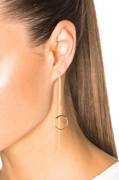 14 Karat Silver Screen Earrings