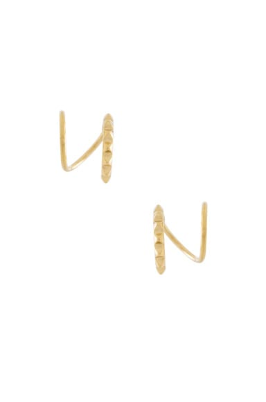 Maria Black 14 Karat Klaxon Twirl Earrings in Gold
