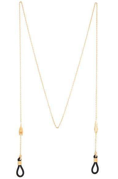 Maria Black 18 Karat Ziggy Sunglass Necklace in Gold