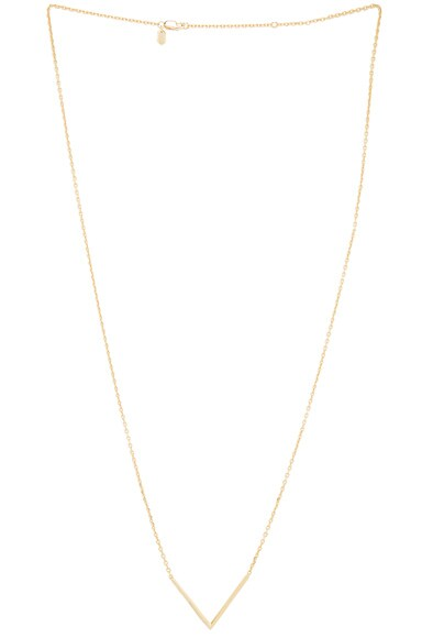 14 Karat Long Check Necklace