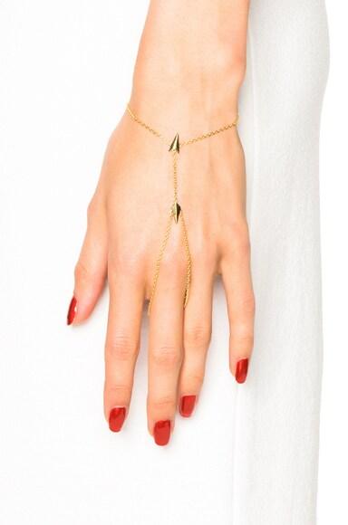 14 Karat D'Arling Finger Bracelet