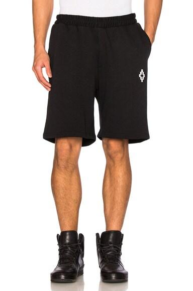 Marcelo Burlon Paco Shorts in Black & White