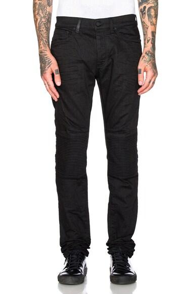 Marcelo Burlon Biker Slim in Black