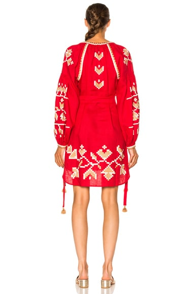 Flora Embroidered Mini Dress