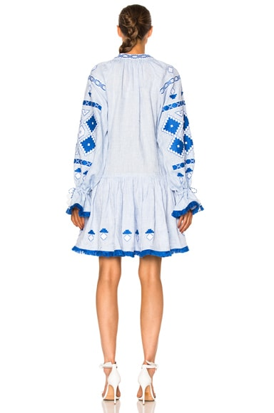 Sasha Embroidered Mini Dress