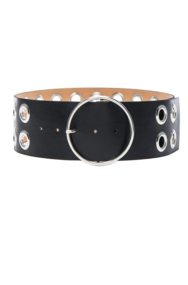 McQ Alexander McQueen Circle Buckle Belt in Black