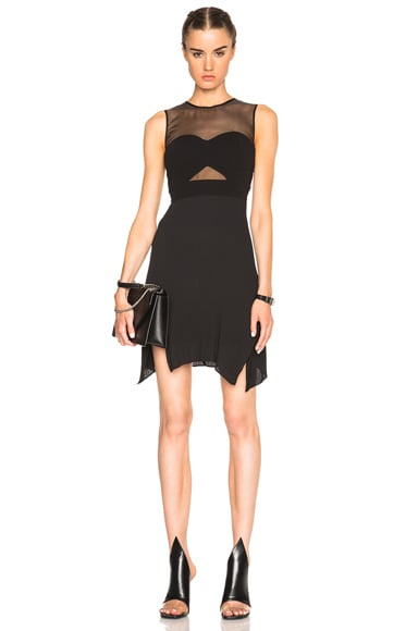 McQ Alexander McQueen Bra Pleated Dress in Black