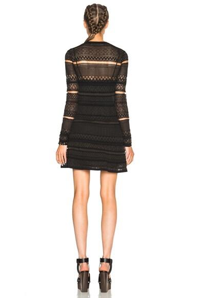 Geometric Lace Skater Dress