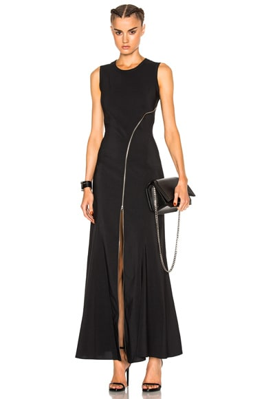 McQ Alexander McQueen Zip Maxi in Darkest Black
