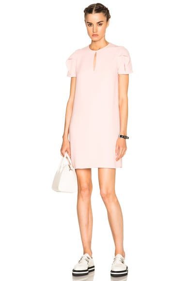 McQ Alexander McQueen Bubble Sleeve Shift Dress in Paloda Pink
