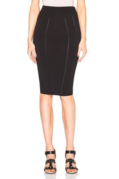 McQ Alexander McQueen Ergonomic Skirt in Darkest Black