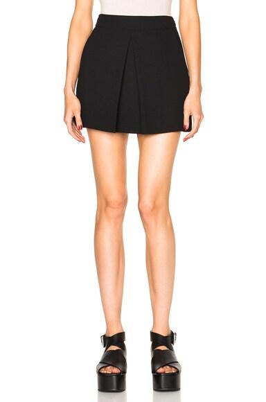 McQ Alexander McQueen Pleat Mini Skirt in Black