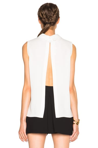 Open Back Pleated Top