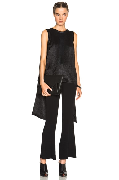 McQ Alexander McQueen Drape Tie Top in Black