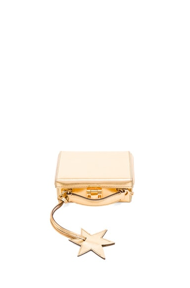 Mark Cross Saffiano Grace Mini Box in Metallic Gold