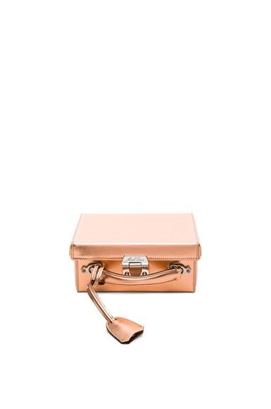 Mark Cross Grace Small Box Bag in Copper Saffiano