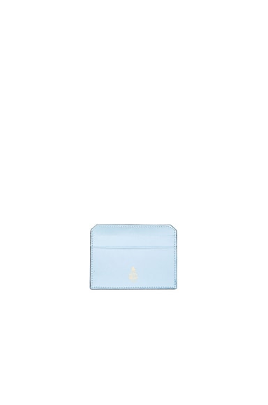 Mark Cross Card Case in Ice Blue Saffiano