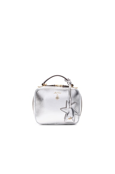 Mark Cross Baby Laura Bag in Silver Metallic