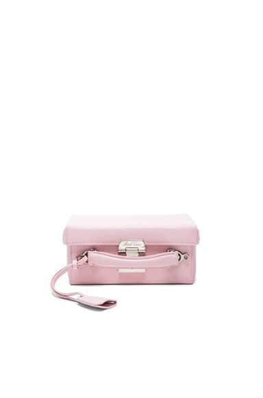 Mark Cross Grace Small Box Bag in Pale Pink Pebble