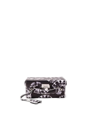Mark Cross Grace Small Box Bag in Black Tie Dye Print